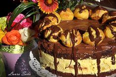 Tort Profiterol | Retete culinare cu Laura Sava - Cele mai bune retete pentru intreaga familie Biscuits, Sweets, Cooking, Healthy, Desserts, Cakes, Food, Postres, Recipe