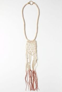 TrailedMacrame Necklace