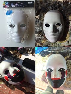 """Marionette """"One more thing - don't forget the music box.. ."""" Cost (<$5)  ❁❁❁  Super quick, cheap, and easy prop. Mask was purchased at Hobby Lo..."""
