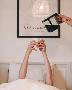 Well we don't actually serve coffee to bed but we don't mind if you want to have coffee in your bed.