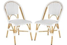 Gray Odeon Stackable Side Chairs, Pair