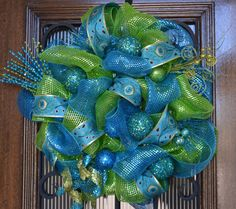 Deco Mesh Wreath in your Color Choice