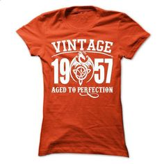 Vintage 1957 Aged To Perfection - #shirt fashion #cheap hoodie. ORDER NOW => https://www.sunfrog.com/LifeStyle/Vintage-1957-Aged-To-Perfection-66186019-Ladies.html?68278
