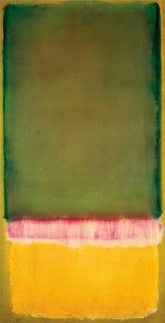 Untitled ca. 1949 - Mark Rothko - 53x100 cm Más www.artgallery.com.mx [art abstract yellow red green home wall decor]