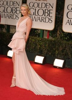 Charlize Theron in Dior Couture, 2012 Golden Globe Awards