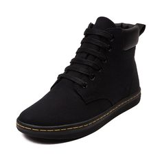 I want these boots!!!  Womens Dr. Martens Maelly Boot in Black at Journeys Shoes. Make your move in the new Maelly Boot from Dr. Martens! The Maelly Boot boasts serious comfort with a sturdy yet soft canvas upper, lace up front closure, padded ankle collar, textile lining with a super soft cushioning footbed and single stitched durable rubber outsole for traction and slip resistance.