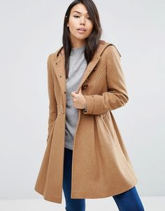 Buy it now. ASOS Swing Duffle Coat with Hood - Stone. Coat by ASOS Collection, Wool-mix fabric, Fixed hood, Toggle fastening, Functional pockets, Swing style, Regular fit - true to size, Dry clean, 61% Polyester, 31% Wool, 6% Viscose, 2% Nylon, Our model wears a UK 8/EU 36/US 4 and is 174 cm/5'8.5� tall. ABOUT ASOS COLLECTION Score a wardrobe win no matter the dress code with our ASOS Collection own-label collection. From polished prom to the after party, our London-based design team scour…