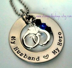 Police Week Hand Stamped Personalized Necklace! | Very Jane