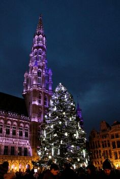 The Grand Place at Christmas. It's stupid pretty.