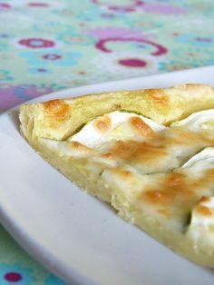 Tarte fine courgette, mozzarella & crème au curry   Cuisimiam
