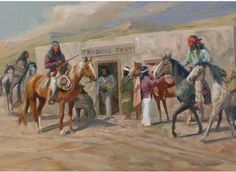 Leaving the Trading Post by Carl Hantman kp