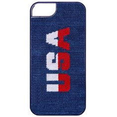 USA Needlepoint iPhone 6 Case in Classic Navy by Smathers & Branson