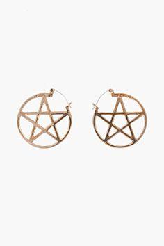 Pamela Love Bronze Pentagram Earrings~wish I wore earrings...