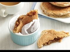 Inside out pancakes. The stuffing in these pancakes cooks into syrup while the pancakes cook. A great breakfast on the go ideas. Cooking Light