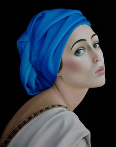 """Slava Fokk  """"Girl in Blue""""From the series-""""Sensuality"""" 40x50cm oil on canvas 2015"""