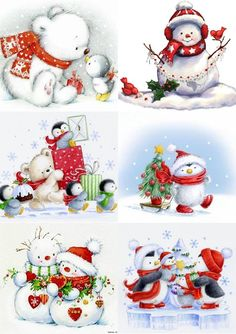 """Full Square/Round Drill """"snowman"""" Diamond Embroidery DIY Needlework Full Diamond Painting Cross Stitch Rhinestones Mosaic New Year Christmas Scenes, Noel Christmas, Christmas Pictures, All Things Christmas, Winter Christmas, Vintage Christmas, Christmas Ornaments, Illustration Noel, Christmas Illustration"""