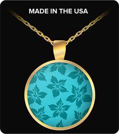 Hawaiian Flowers Surfing Necklace