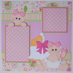 BLJ Graves Studio: Baby Girl Scrapbook Layout