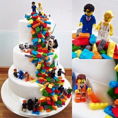 Wedding cake Lego www.birthdaysto … Hochzeitstorte Lego www. Beautiful Cakes, Amazing Cakes, Cake Lego, Lego Wedding Cakes, Cake Wedding, Ninjago Cakes, Lego Birthday Party, Birthday Cake, Character Cakes