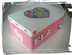 Krabica spomienok ružová