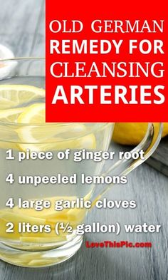 Recipe For Cleansing Arteries
