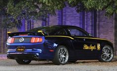 """One-Off """"Blue Angels"""" Ford Mustang Auctioned at Air Show Mustang Shelby Cobra, Ford Mustang Gt, 2012 Mustang Gt, S550 Mustang, Mustang Cars, Mustang Fastback, Us Navy Blue Angels, Mustang Convertible, Mercedes Car"""