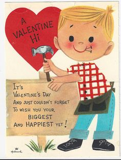 vintage valentine cards from the 60s  Tea With Friends