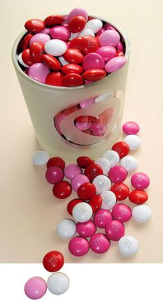 Heart and M&M's