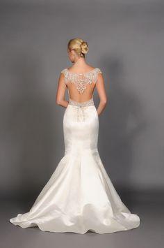 amazing open back wedding gown by eugenia couture #openbackweddingdress #weddingchicks #beadedgown http://www.weddingchicks.com/2013/12/18/eugenia-couture-2014-collection/