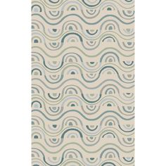 Define a cozy reading nook or anchor your den seating group with this hand-tufted New Zealand wool rug, showcasing a swirls motif.Pro...