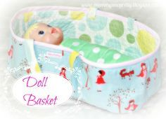 How to make a baby doll bed.  We need one of these around here!