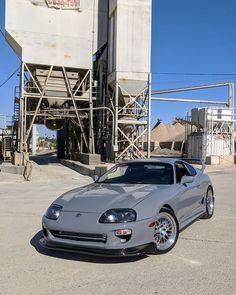Clean Toyota Supra presented in grey - - carporn Toyota Supra Mk4, Toyota 4runner, Nissan Silvia, Corolla Toyota, Toyota Used Cars, Best Jdm Cars, Nardo Grey, Honda Civic, Honda S2000