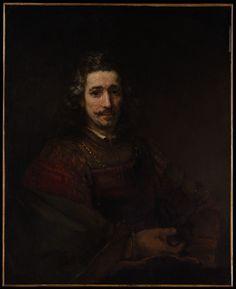 Rembrandt (Rembrandt van Rijn) (Dutch, 1606–1669). Man with a Magnifying Glass, early 1660s. The Metropolitan Museum of Art, New York. Bequest of Benjamin Altman, 1913 (14.40.621) #mustache #movember