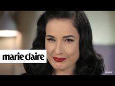 Dita von Teese Easy Hair DIY   Hair Report - YouTube