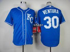 MLB New Jerseys Kansas Royals #30 ventura blue Jerseys