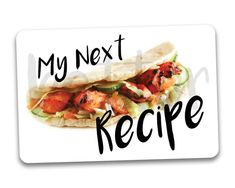 My Next Recipe Fridge Magnet. Great recipe holder by BetterMagnets Recipe Fridge, Recipe Holder, Great Recipes, Magnets, Rock, Handmade, Etsy, Stone, Hand Made