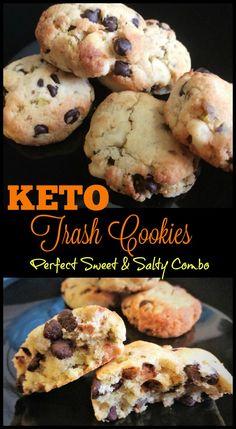 Keto Trash Cookies Recipe - Keto Dessert recipes that are sweet and salty! - - Keto Trash Cookies Recipe – Keto Dessert recipes that are sweet and salty! OMGo… Keto Trash Cookies Recipe – Keto Dessert recipes that are sweet and salty! Keto Desserts, Keto Snacks, Dessert Recipes, Dessert Ideas, Easy Keto Dessert, Breakfast Recipes, Breakfast Cookies, Diet Breakfast, Recipes Dinner