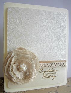 "Wedding card by Stamping and Stitching, via Flickr . . . ""Congratulations on your Marriage"""