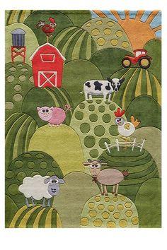 farm theme rug