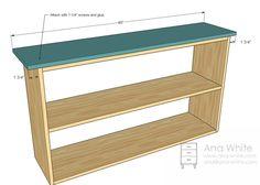 Simple bookshelf plans - attach the top.