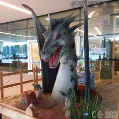 DRA001-Dragon Show Giant Fire Dragon Head Robot -Mcsdino-Fantasy And Mystery
