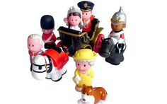 Royal figurines These chunky figurines by Mothercare look like they belong in the nursery, but they're collectibles aimed at adults. There's Will, Kate, the Queen, someone who might be Prince Charles, and a couple of guards… it will be easy enough to add a little baby when the time comes