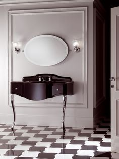 Traditional Miami Wall & Floor Mount Vanity Unit by Devon + Devon Royal Bathroom, Paris Bathroom, Art Deco Bathroom, Bathroom Drain, Bathroom Toilets, Bathrooms, Bathroom Furniture, Bathroom Interior, Consoles