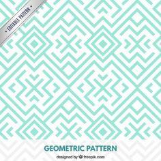 Motif géométrique turquoise