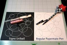 using pens on cricut