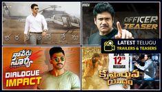 Watch all the latest Telugu trailers and teaser at one place #BharatAneNenu #Officer #NaaPeruSurya #KrishnarjunaYudham