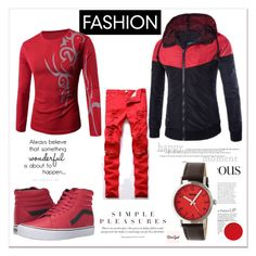"""""""Rosegal 56"""" by zbanapolyvore ❤ liked on Polyvore featuring Vans, Crayo, men's fashion and menswear"""