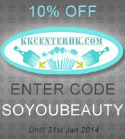 10% off at kkcenterhk.com with code soyoubeauty