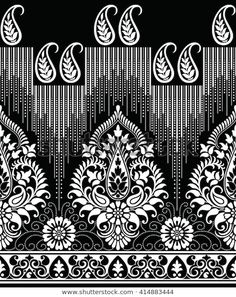 Find Traditional Paisley Indian Motif stock images in HD and millions of other royalty-free stock photos, illustrations and vectors in the Shutterstock collection. Thousands of new, high-quality pictures added every day. Textile Prints, Textile Patterns, Textile Design, Modern Floral Wallpaper, Paisley Background, Monkey Illustration, Free Hand Designs, Ornament Drawing, Embroidery Neck Designs