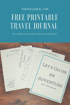 Here is a free printable Travel Journal. This journal is a fun way for your family to document your travels this year. From the big vacations to little day trips, what a fun way to look back at the places you have visited. thekeeledeal.com #journal #traveljournal #freeprintable #travelhacks #BucketList